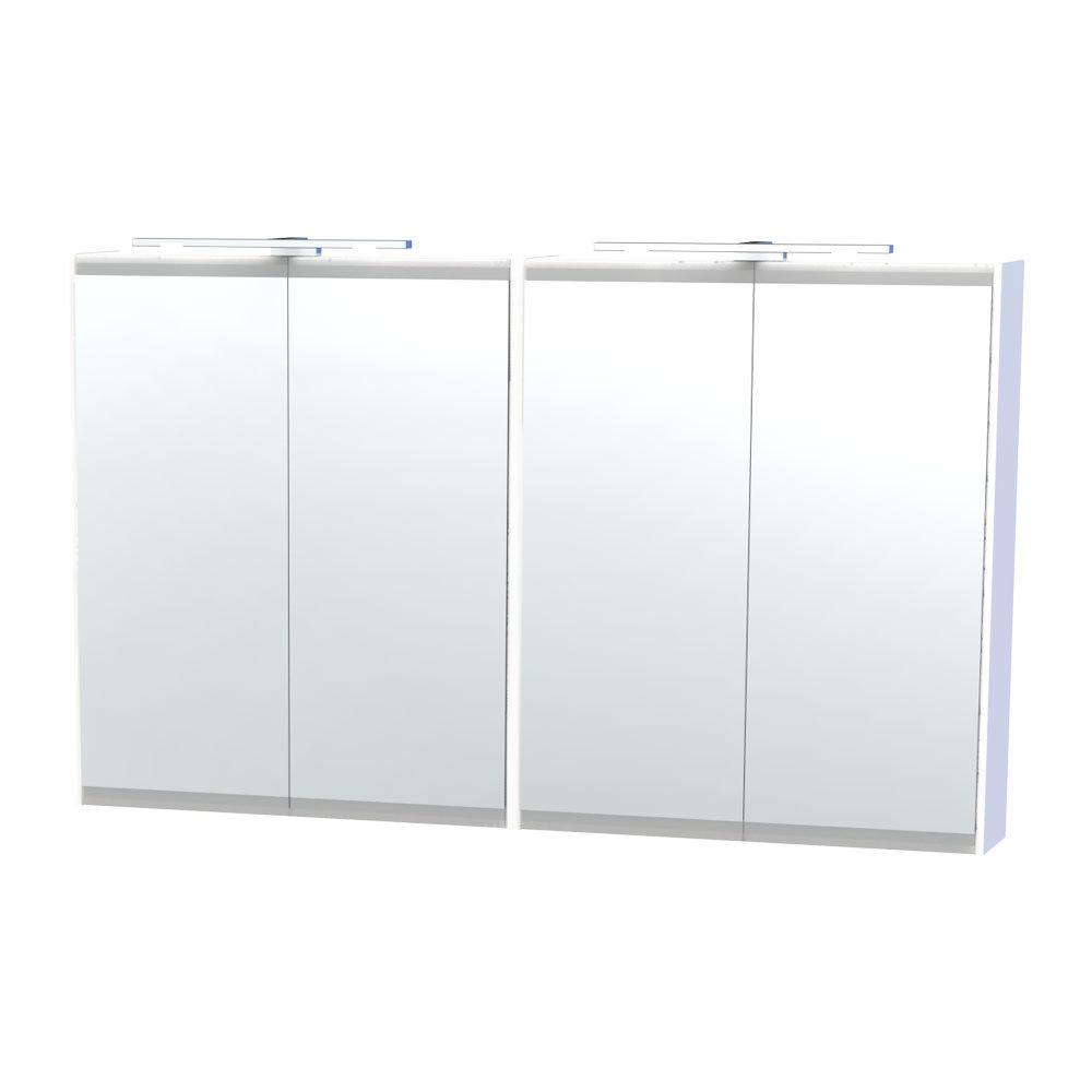 Miller - London 120 Mirror Cabinet - White - 56-2 Large Image