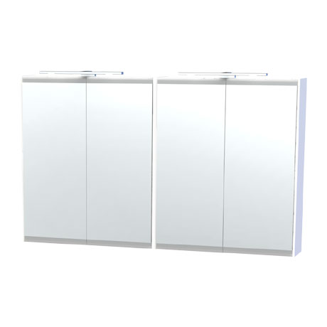 Miller - London 120 Mirror Cabinet - White - 56-2