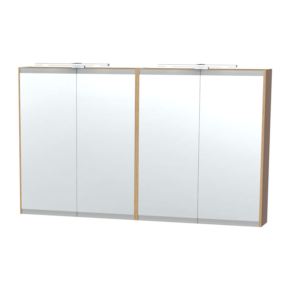 Miller - London 120 Mirror Cabinet - Oak - 56-5 Large Image