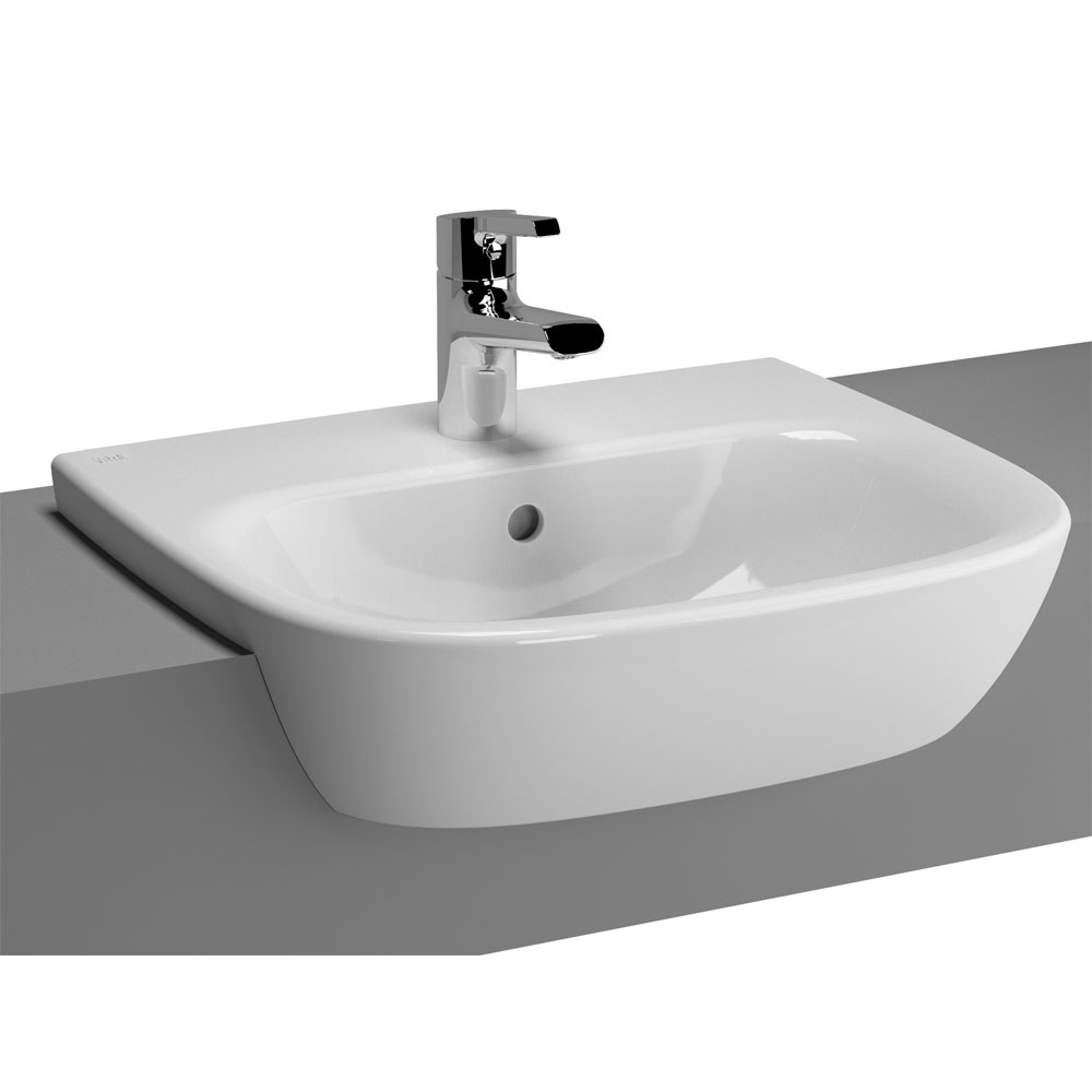 Vitra Zentrum Semi Recessed Basin 1 Tap Hole