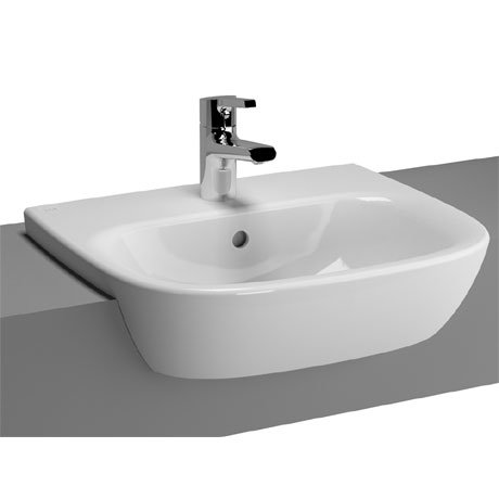 Vitra - Zentrum Semi-Recessed Basin - 1 Tap Hole