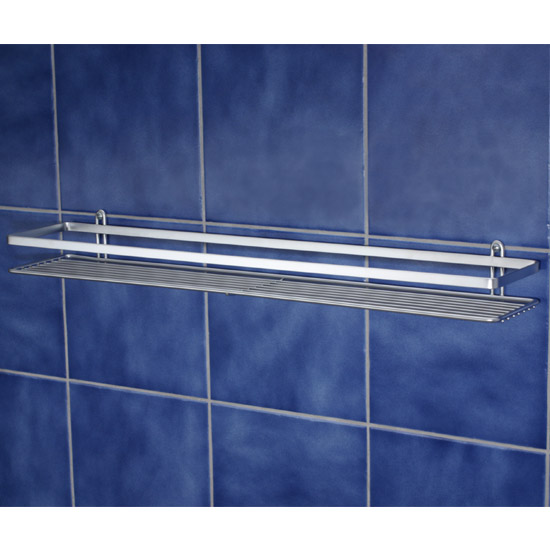 Satina Single Shower Caddy Shelf - Chrome - 56490 Large Image