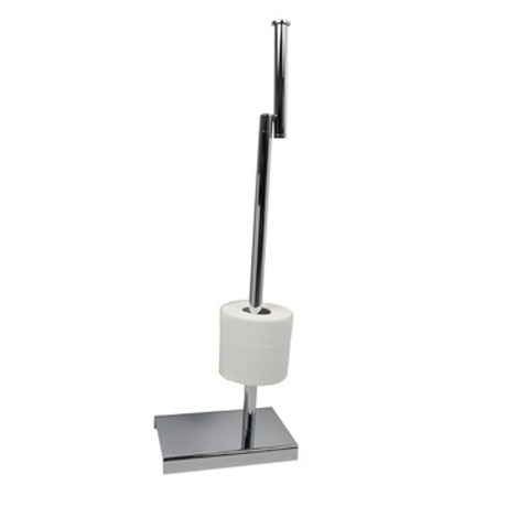 Miller - Classic Freestanding Toilet & Spare Roll Holder - 5656CH profile large image view 3