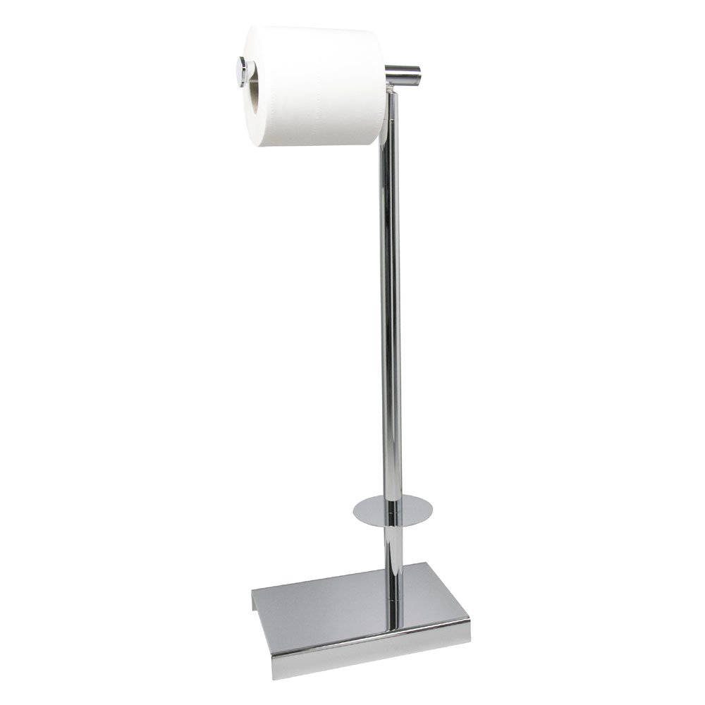 Miller - Classic Freestanding Toilet & Spare Roll Holder - 5656CH profile large image view 1