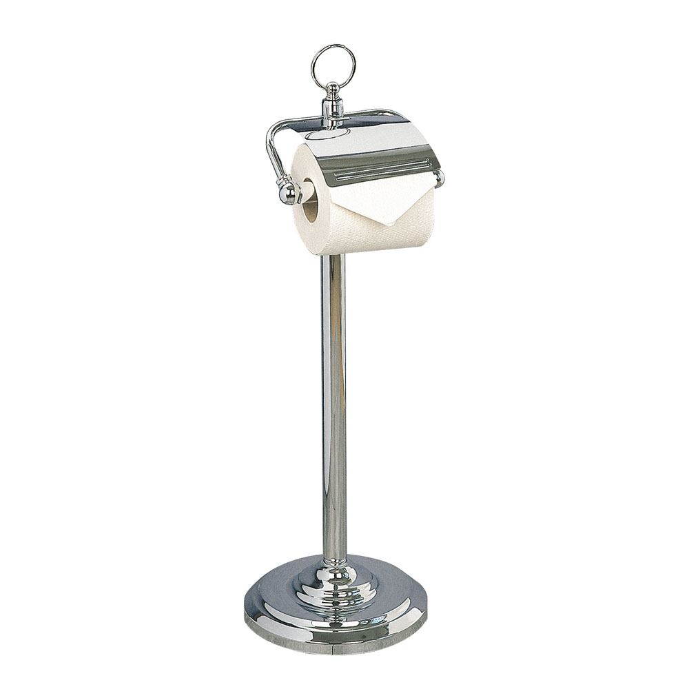 Miller - Classic Freestanding Toilet Roll Holder with Lid - 5658CH Large Image