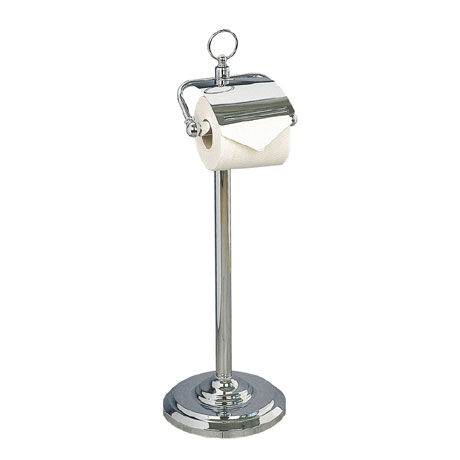 Miller - Classic Freestanding Toilet Roll Holder with Lid - 5658CH