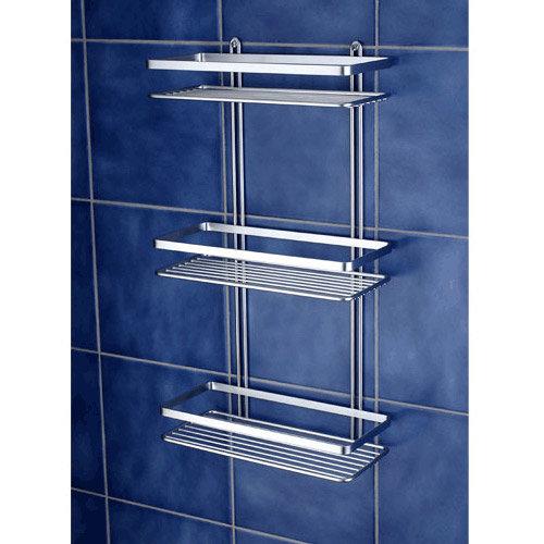 Satina Shower Storage Basket - Chrome 3 Tier (56590) Profile Large Image