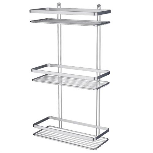 Satina Shower Storage Basket - Chrome 3 Tier (56590) - Huge Range at ...