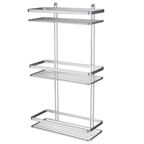 Satina Shower Storage Basket - Chrome 3 Tier (56590)