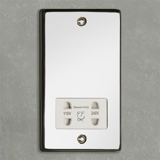 HIB - Shaver Socket - Chrome - 5690 profile large image view 1
