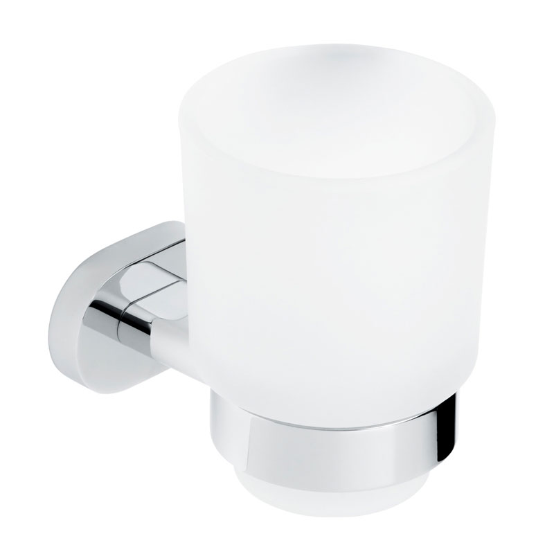 Roper Rhodes Arena Frosted Glass Toothbrush Holder - 5716.02 Large Image