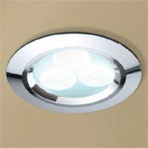 HIB Chrome LED Showerlight - Cool White - 5750 Medium Image