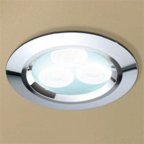 HIB Chrome LED Showerlight - Cool White - 5750