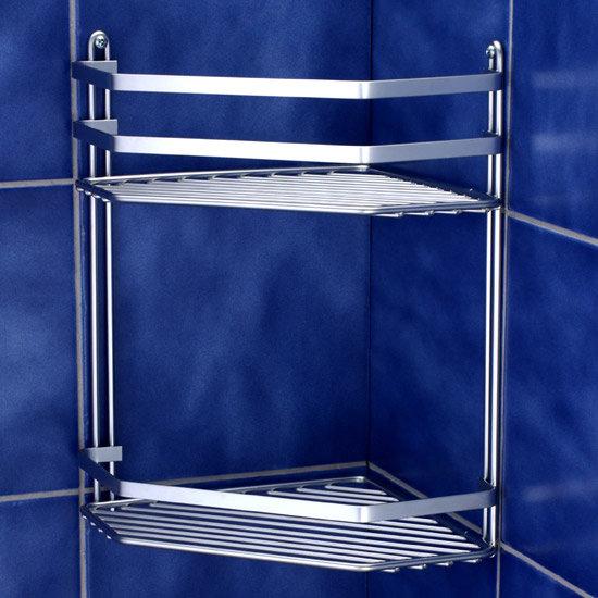 Satina Bathroom Storage Basket - Double Corner - 57590 profile large image view 2