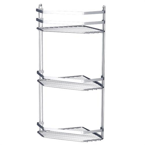 Satina Bathroom Corner Basket Tidy - Triple Tier - Chrome - 57690 profile large image view 1
