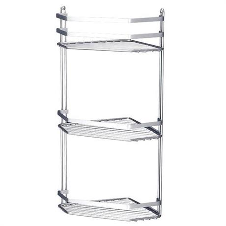 Satina Bathroom Corner Basket Tidy - Triple Tier - Chrome - 57690