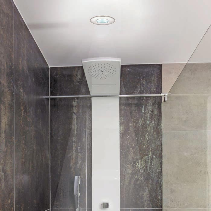 HIB White Fire Rated LED Showerlight - Warm White - 5770 profile large image view 2