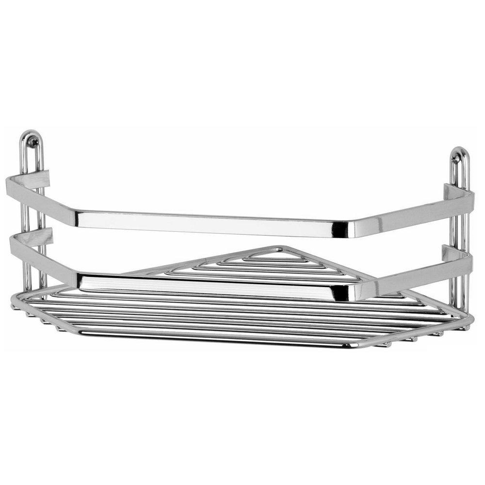 Satina Single Corner Storage Basket - Chrome - 57790 Large Image