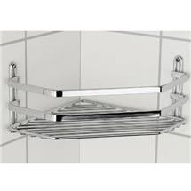 Satina Single Corner Storage Basket - Chrome - 57790 Medium Image