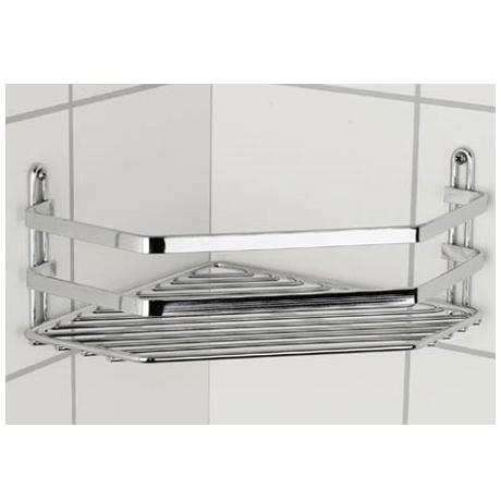 Satina Single Corner Storage Basket - Chrome - 57790