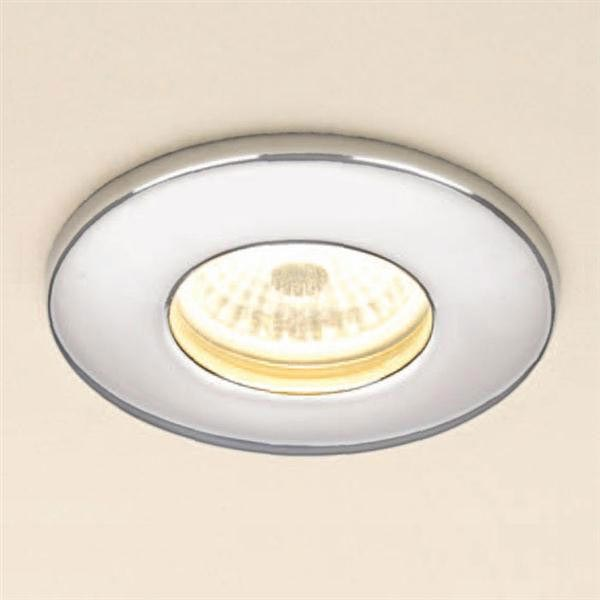 HIB Chrome Fire Rated LED Showerlight - Warm White - 5780B profile large image view 1