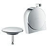 hansgrohe Exafill S Finish Set Bath Filler Waste & Overflow Set - Chrome - 58117000 profile small image view 1