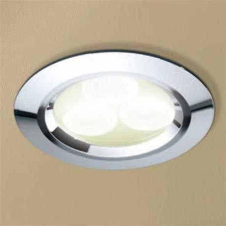 HIB Chrome LED Showerlight - Warm White - 5820