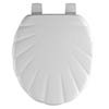 Bemis - 5900AR Shell Design Toilet Seat - White - 5900AR000 profile small image view 1