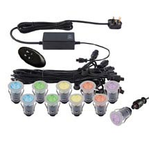 Saxby Ikon Pro LED Deck Lights Pack - RGB Medium Image