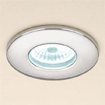 HIB Infuse Chrome Fire Rated LED Showerlight - Cool White - 5930 Medium Image