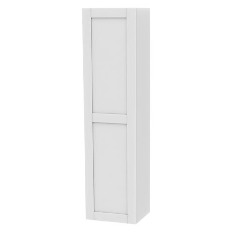 Miller - London Tall Cabinet with Door Storage - White