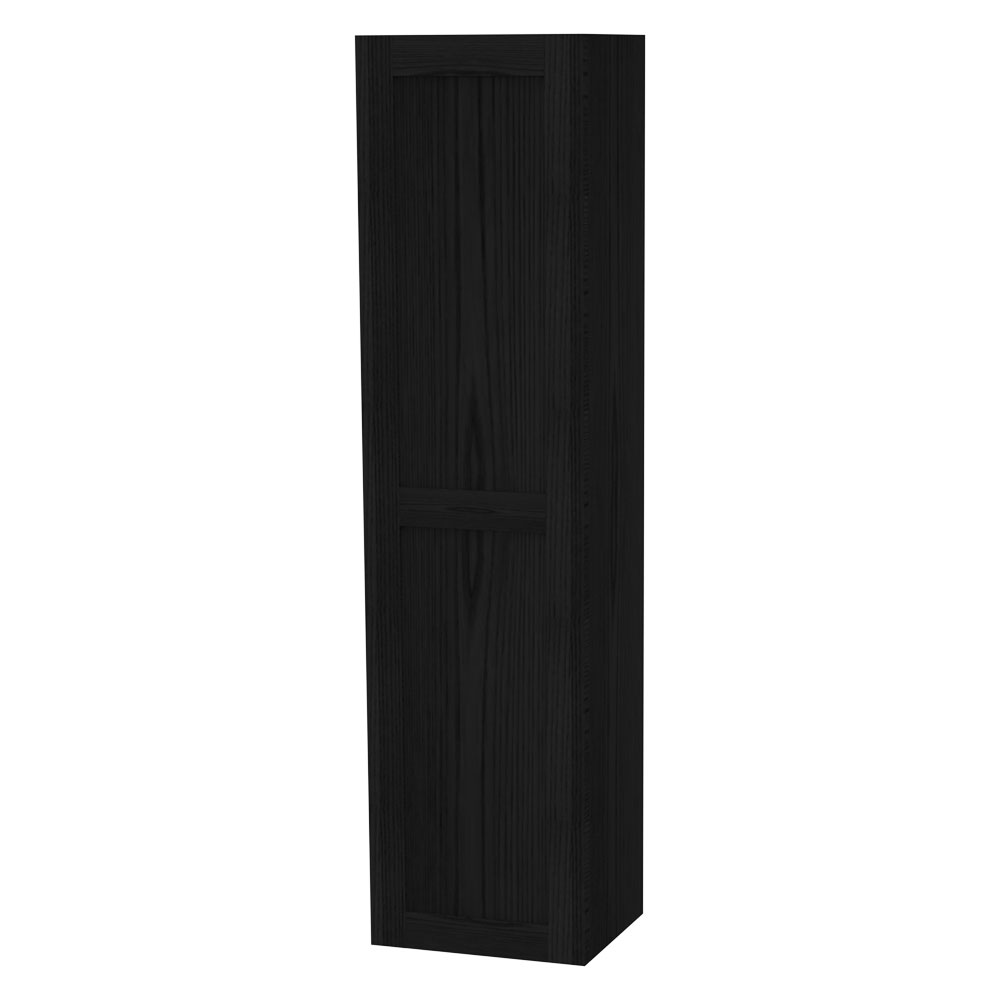 Miller - London Tall Cabinet with Door Storage - Black Large Image