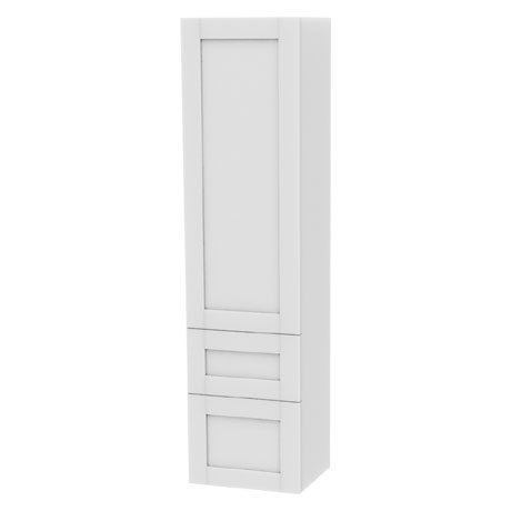 Miller - London Tall Cabinet with Door Storage & Drawers - White