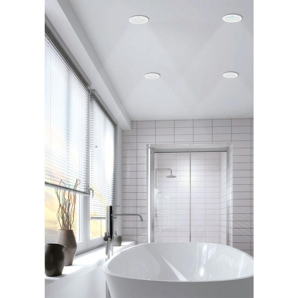HIB Calibre Round Recessed LED Showerlight - Warm White - 5980 profile large image view 2