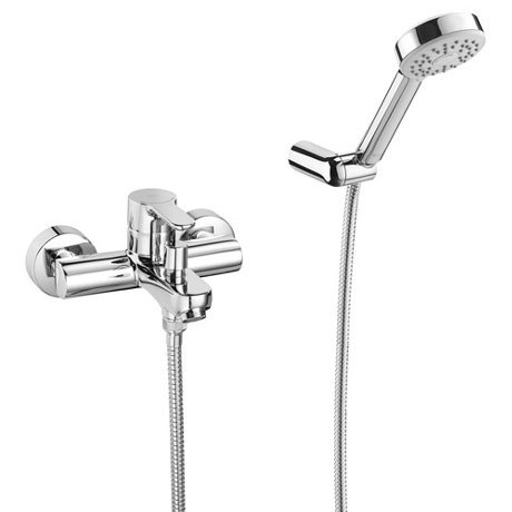 Roca L20 Chrome Wall Mounted Bath Shower Mixer & Kit - 5A0109C02