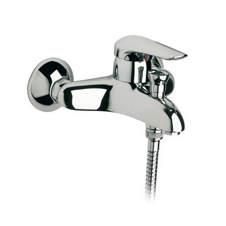 Roca Monojet-N Chrome Wall Mounted Bath Shower Mixer & Kit - 5A0139C00 profile large image view 2