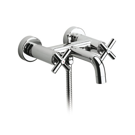 Roca Loft Chrome Wall Mounted Bath Shower Mixer & Kit - 5A0143C00 profile large image view 2