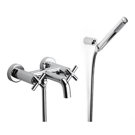 Roca Loft Chrome Wall Mounted Bath Shower Mixer & Kit - 5A0143C00