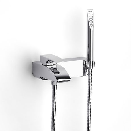 Roca Thesis Chrome Wall Mounted Bath Shower Mixer & Kit - 5A0150C00