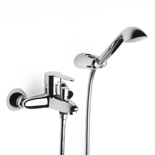 Roca Vectra Chrome Wall Mounted Bath Shower Mixer & Kit - 5A0161C02 Large Image