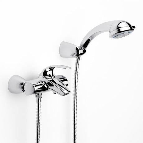 Roca M2-N Chrome Wall Mounted Bath Shower Mixer & Kit - 5A0168C00