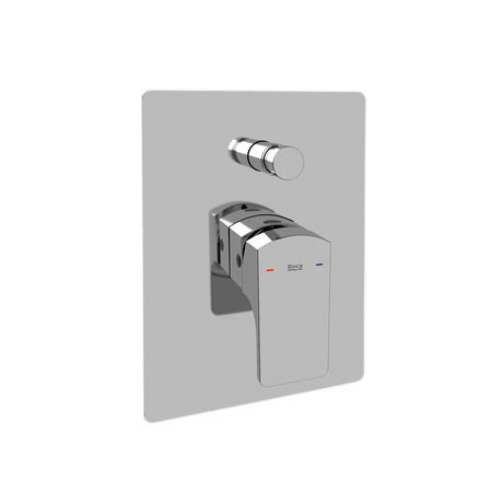 "Roca L90 Chrome 1/2"" Built-in Bath Shower Mixer with Automatic Diverter - 5A0601C00 Large Image"