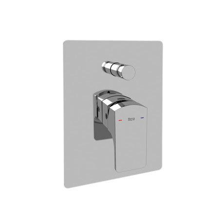 "Roca L90 Chrome 1/2"" Built-in Bath Shower Mixer with Automatic Diverter - 5A0601C00"