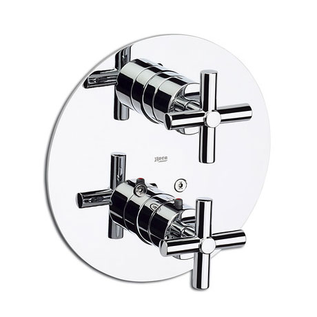 "Roca Loft Chrome 1/2"" Built-in Thermostatic Bath or Shower Mixer - 5A0743C00"