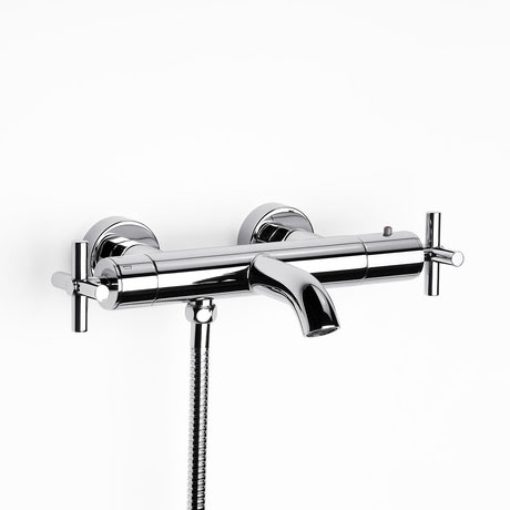 Roca Loft Chrome Wall Mounted Thermostatic Bath Shower Mixer & Kit - 5A1143C00 profile large image view 2