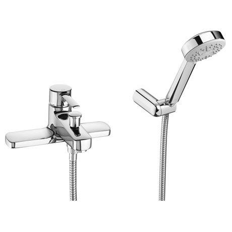 Roca Targa Chrome Deck Mounted Bath Shower Mixer & Kit - 5A1860C00