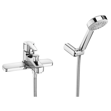Roca Vectra Chrome Deck Mounted Bath Shower Mixer & Kit - 5A1861C00