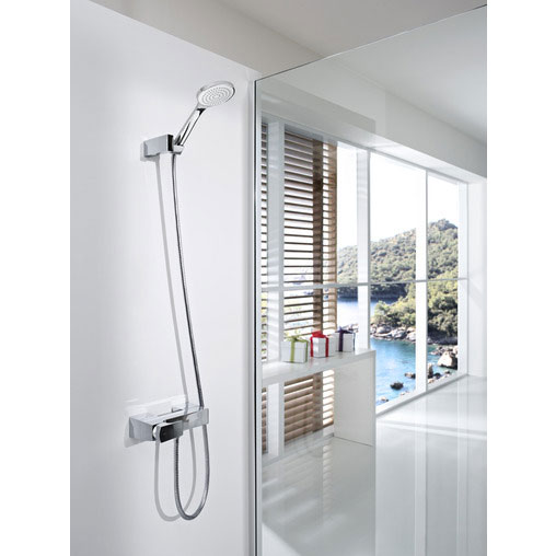 Roca L90 Chrome Wall Mounted Shower Mixer & Kit - 5A2001C00 Feature Large Image