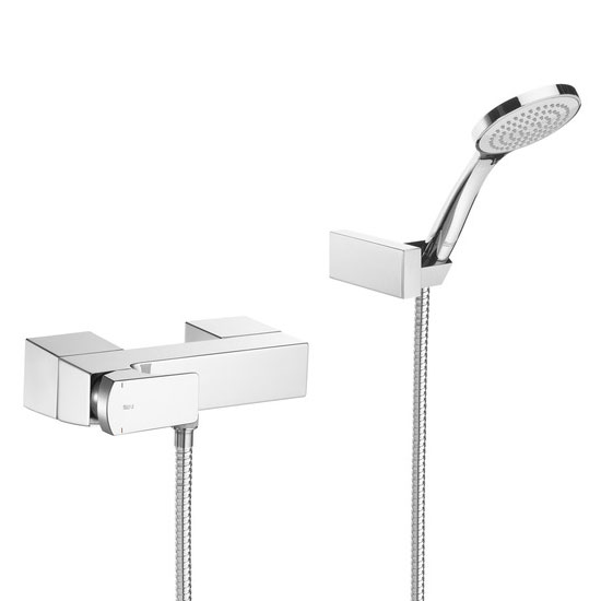 Roca L90 Chrome Wall Mounted Shower Mixer & Kit - 5A2001C00 Large Image