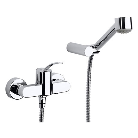 Roca Moai Chrome Wall Mounted Shower Mixer & Kit - 5A2046C00